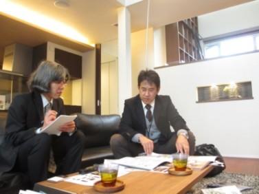 日本住宅新聞取材風景