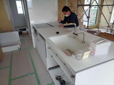 2階にキッチン設置