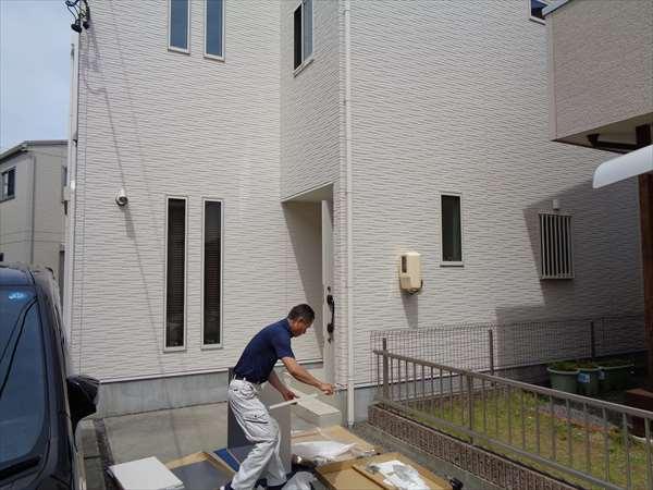 玄関収納の取付