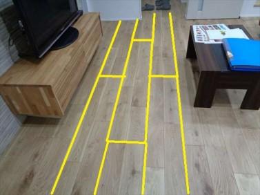天然突板フロ-リング材
