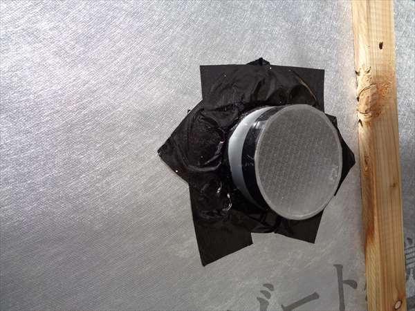 貫通スリ-ブの防水処理