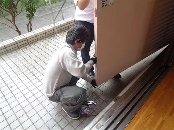 防火戸の修理