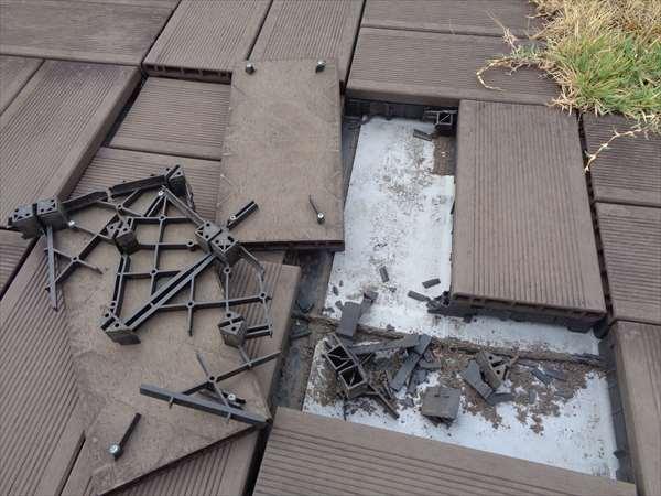 デッキ材の破損