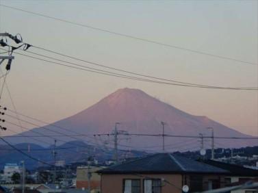 会社から富士山