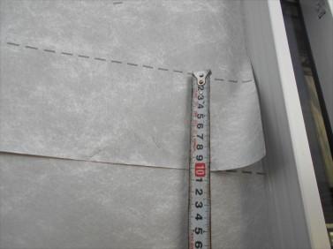 防水紙の重ね巾
