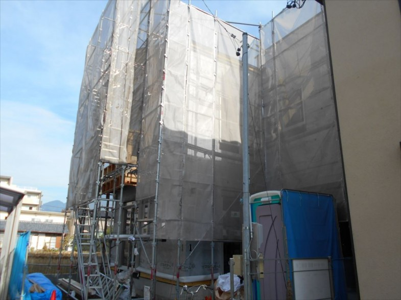 外壁防水紙施工