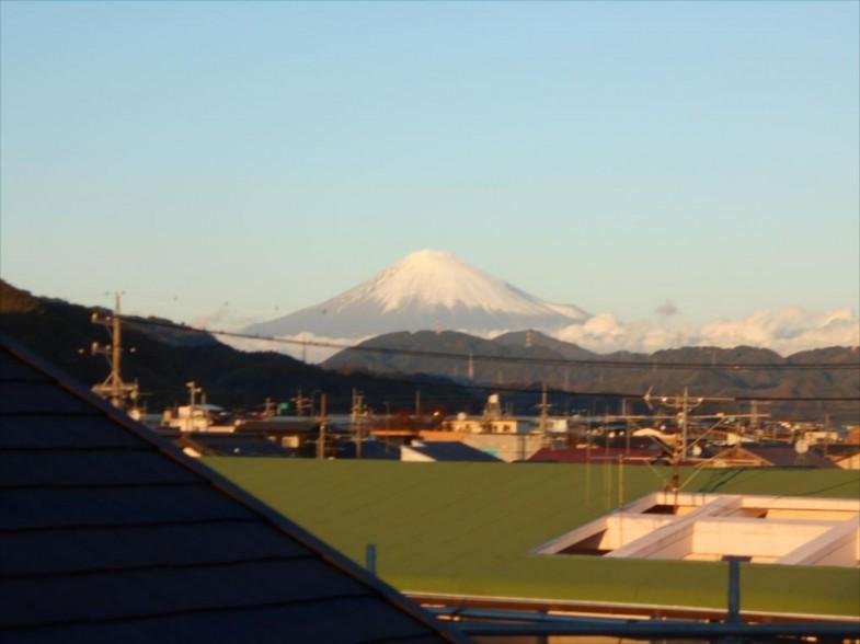 屋上から富士山