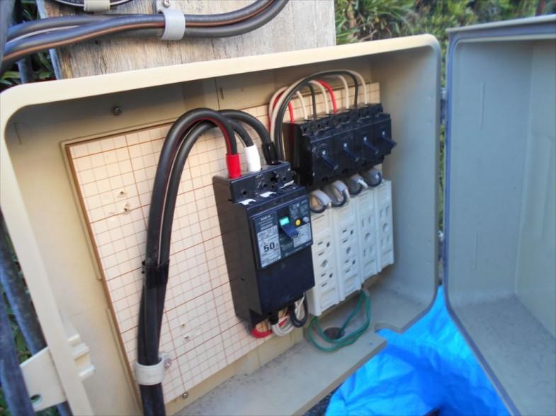 仮設電気BOX