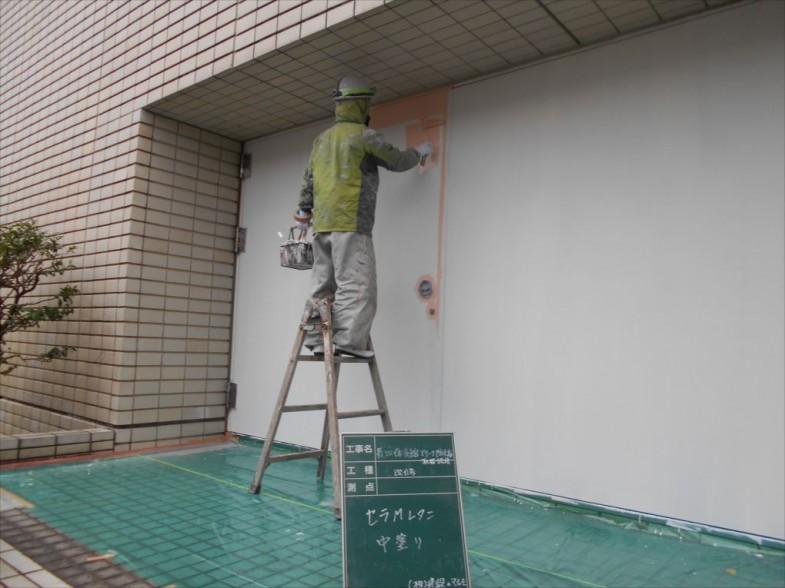 防火扉の塗装