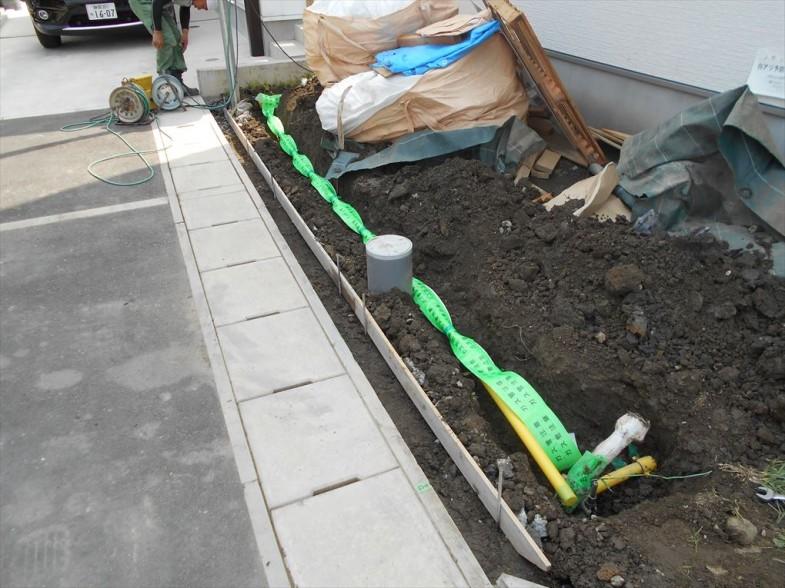 ガス配管の埋設