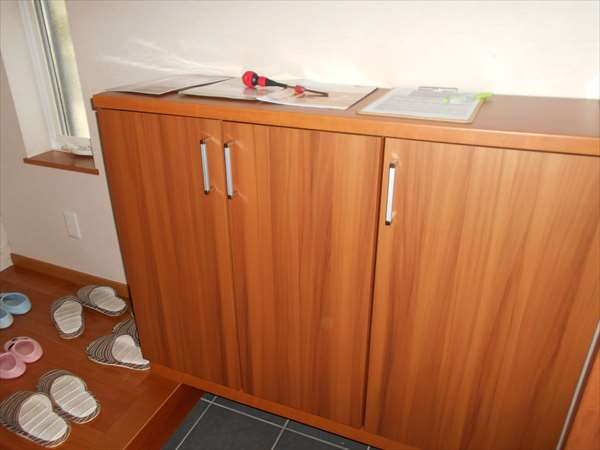 収納扉の調整
