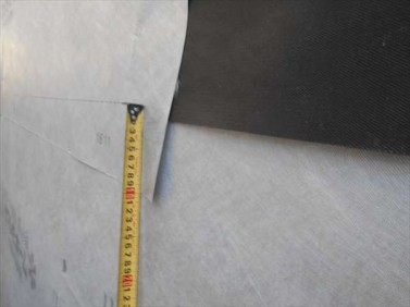 防水紙貼り