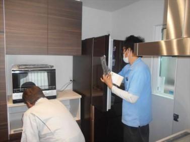 家電の搬入