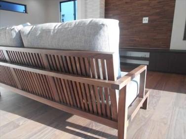 フランネルのソファ-