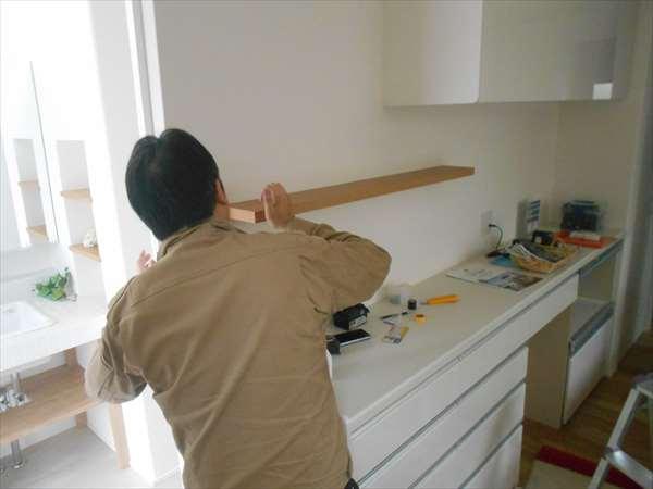 棚板の取付
