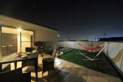 屋上ガーデン 夜