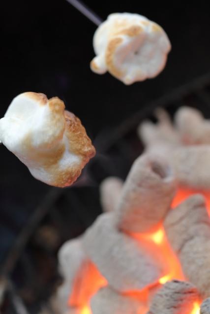 焼きマシュマロでスモアを作ろう!