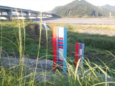 安倍川の水位計