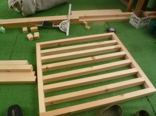 格子戸の製作