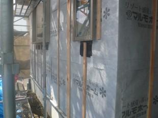 外壁胴縁の施工