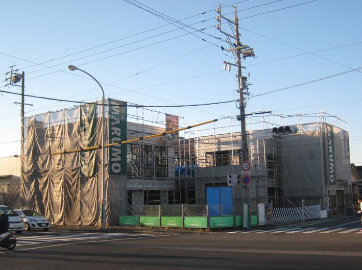 新モデルハウス建設中